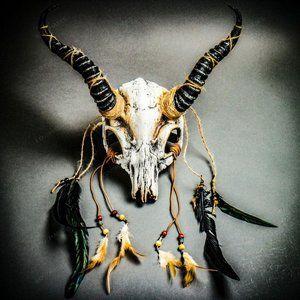Antelope Costume Devil Animal Skull w/ Impala Horn